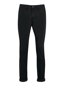 Black stretch skinny chino