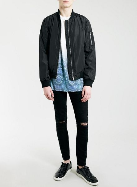 Topman Double knee rip stretch skinny