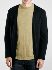 Topman Textured open cardigan