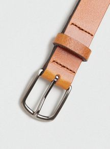 Topman Leather Skinny Belt