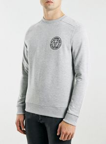 Topman Long sleeve print sweat