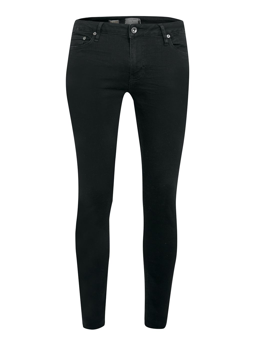 Mens Topman Coated spray on skinny jeans Black