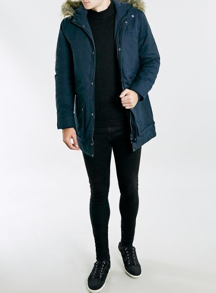 Topman Coated spray on skinny jeans