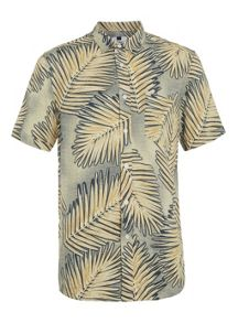 Topman Short sleeve leaf print casual shirt