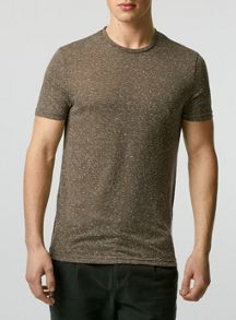 Topman Short sleeve neppy  textured t-shirt