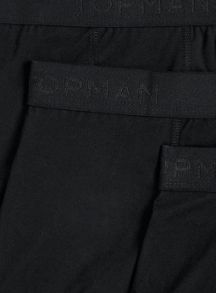 Topman Black 3 Pack Underwear