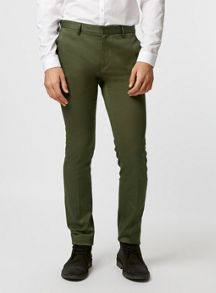 Topman Cotton sateen ultra skinny fit trousers