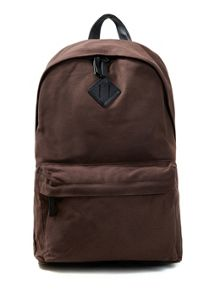 Topman Waxed canvas rucksack