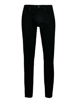 Solid stretch slim jeans