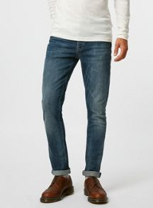 Topman Dark wash stretch slim jeans