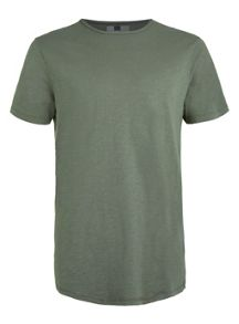 Topman Short sleeve slubby crew neck t-shirt