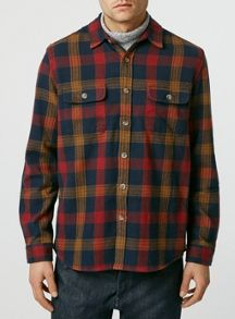 Topman Long sleeve check casual overshirt