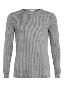 Topman Long sleeve rib t-shirt