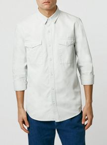 Topman Long sleeve twill shirt