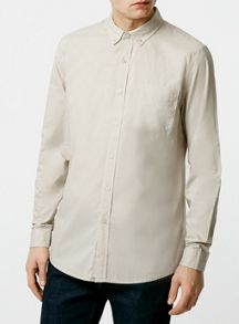 Topman Long sleeve poplin shirt