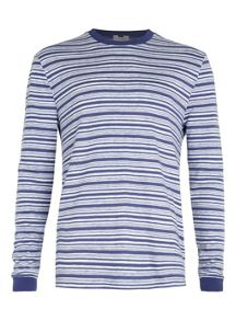 Topman Long sleeve stripe crew neck t-shirt