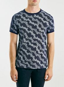 Dot leaf slim fit t-shirt
