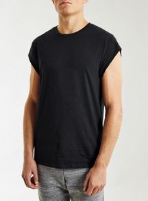 Topman Cap sleeve slim t-shirt
