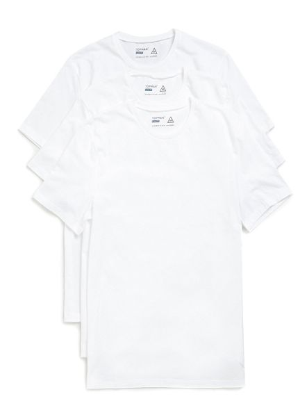 Topman Short sleeve white crew neck tee.