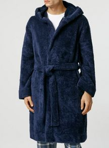 Topman Navy Dressing Gown
