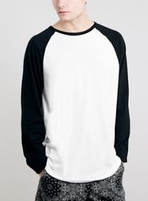 Topman Long sleeve raglan sleeve multipack x2