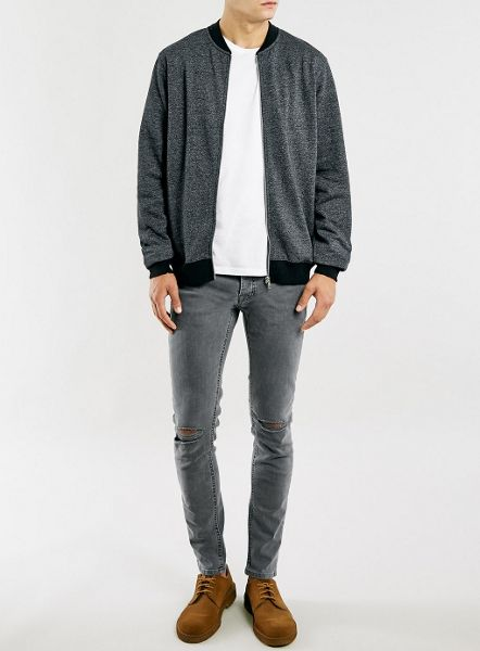Topman Salt and pepper bomber