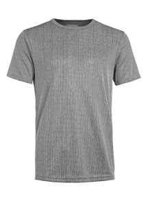 Topman Short sleeve lurex rib t-shirt