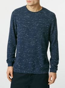 Topman Spacedye viscose bagel neck jumper