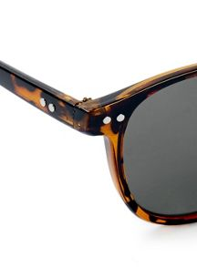 Topman Tortoise Shell Square Sunglasses