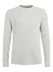 2x2 90s rib crew neck jumper