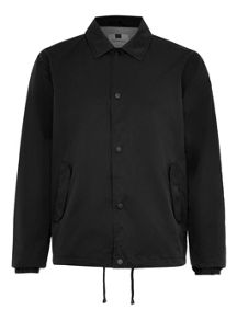 Topman Black lightwieght coach jacket