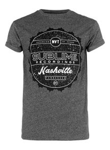 Short sleeve sublime print t-shirt