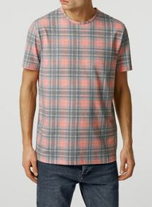 Short sleeve check t-shirt