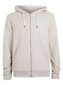 Topman Long sleeve zip through hoodie