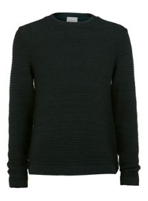 Topman Horizontal rib crew neck jumper