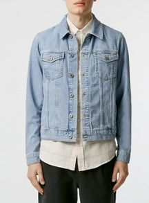 Topman Light wash denim jacket