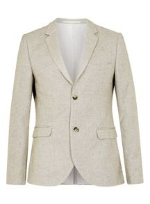 Topman Herringbone Skinny Fit Suit Jacket
