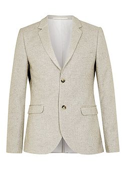 Herringbone Skinny Fit Suit Jacket