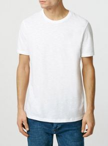 Short sleeve slubby crew neck t-shirt