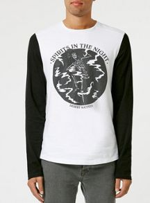 Topman Long sleeve print t-shirt