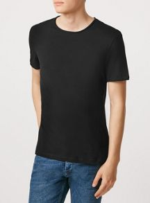 Topman Short sleeve raw edge neck t-shirt