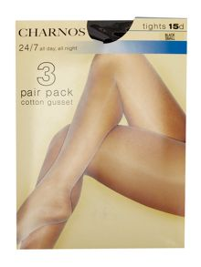 Charnos 24/7 3 pair pack 15 denier sheer tights