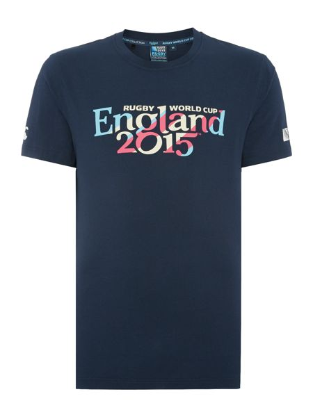 Rugby World Cup 2015 England Script Crew Neck T-Shirt