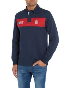 Rugby World Cup 2015 Rugby World Cup 2015 Stripe Rugby Neck Regular Fi