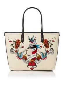 Love Moschino Charming neutral print tote bag