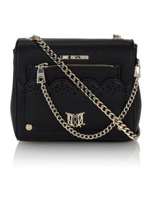 Love Moschino Black small cut out cross body bag