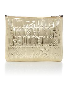 Gold embossed cross body bag