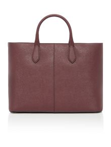 Saffiano burgundy large tote bag