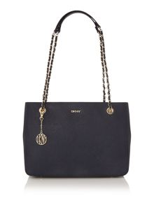 Saffiano navy medium tote bag
