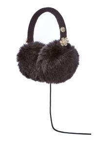 Faux fur with jewels audio earmuff